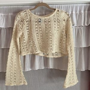 Windsor Crochet Long Sleeve Top